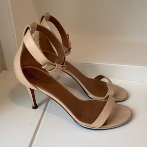 Givenchy Nude Leather Nadia Heel Sandals 37.5/7.5
